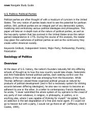 U.S. Politics_ Political Parties Research Paper Starter - eNotes
