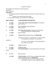 261_Spring2012_Assignment_Schedule