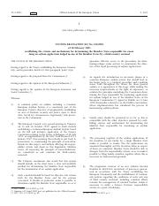 establishing the criteria and mechanisms for determining the member state responsibile for examing a