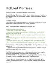 Polluted Promises Notes