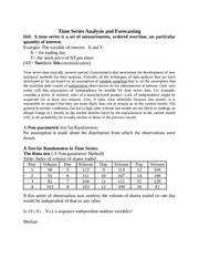 Stat 285 Time Series Notes