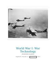 World War I  Research Project.docx