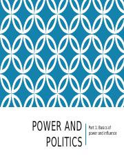 Power and Politics pt 1 notes (1)(ecollege)