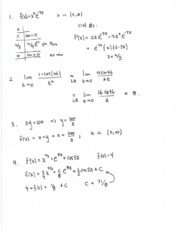 Solutions for exam three