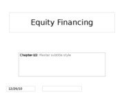 Ch.13 Equity Financing