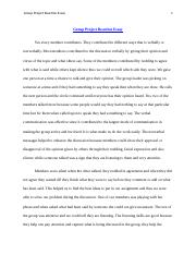 Group Project Reaction Essay.docx
