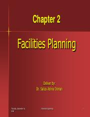 Chapt 2a Facilities Planning