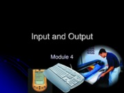 Chapter 4 - Input and Output
