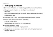 BUS 4800 Managing Turnover Notes