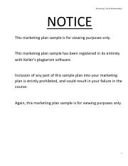 18 - MARKETING  PLAN - EXEMPLARY Final Draft (Sample)