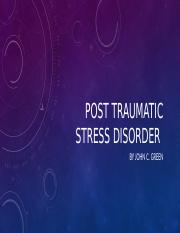 POST TRAUMATIC STRESS DISORDER.pptx