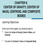 Chapter 8 Center of Gravity and Centroid (2018).pptx