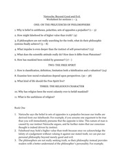 Beyond Good and Evil Books 1-3 Worksheet
