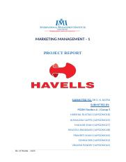 MM-1 Section A Group - 5 Havells report .docx