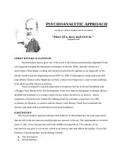 Psychoanalytic Therapy.docx