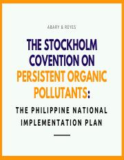 tHE STOCKHOLM CONVENTION ON a powerfulsales pitch (1) pdf