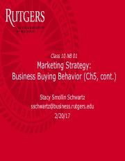 Class 10 - Ch 5 Business Buying Behavior - NB01 022017 - for class.pdf