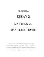 comparisson essays