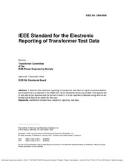 1388-2000 - Standard for the Electronic Reporting of Transformer Test Data