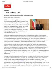 Time to talk Taif _ The Economist