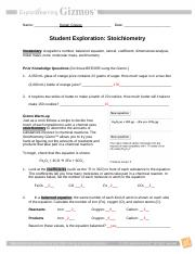 Day 06- Stoichiometry Gizmo and D2L Instructions F13 - 1 Log ...
