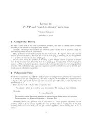 CMPT 308 Complexity Theory Notes