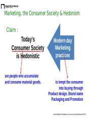 003 Marketing & the Consumer Society & Hedonism FUR.ppt