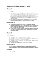 Homework Problem Answers - Week 1 - V5 - 8th Edition BUSN 6120 Managerial