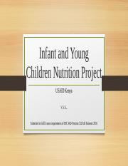 Infant and Young Children Nutrition Project Part 2.pptx