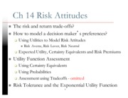 Ch 14 Risk Attitudes -Ch 15 Axioms and Paradoxes