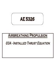 03A-Installed Thrust