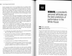 Resolved, a president's personal attributes are the best predictors of performance in the White Hous