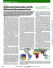 Biodiversity Conservation and Millennium Development Goals