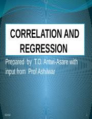Lecture slides on Correlation and Regression.pptx