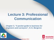 Lecture 3 - Professional Communication
