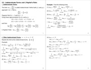 Lecture Notes on Indeterminate Forms and L'Hopital's Rule