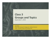 groups and topics