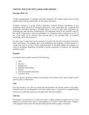 Writing Lab Reports and Scientific Papers   Writing Lab Reports