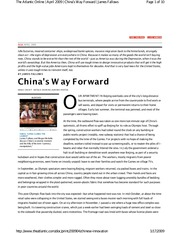 POL S 203-23 Fallows - China's Way Forward