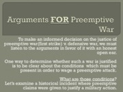 Class__9a_Arguments_FOR_Preemptive_War