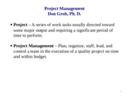 LECT NOTES (Project Management)