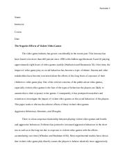 The-Negative-Effects-of-Violent-Video-Games (2).docx