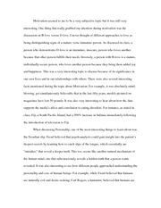 Psych Final Paper - What I learned