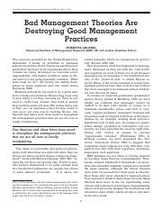 GHOSHAL - BAD MANAGEMENT THEORIES ARE DESTROYING GOOD MANAGMENT PRACTICES.pdf