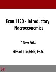 6 - Econ 1120 - Overview of Macroeconomic Theories