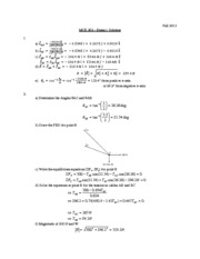 Exam 1 - Fall 2013 _Solution_