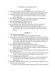 ALIYANA THOMAS - The Big Sleep - Study Guide Questions Chapter 17-32