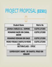 PROJECT PROPOSAL (EE501)