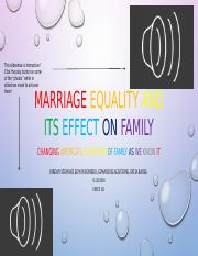 Marriage Equality and Its Effect on Family