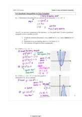 9.3 Quadratic Inequalities in 2 Variables